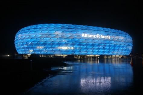 Allianz Arena Blue