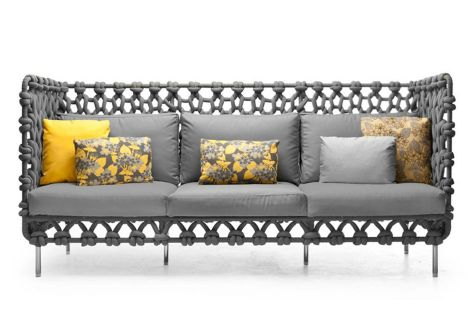 Kenneth Cobonpue – Cabaret High Back Sofa