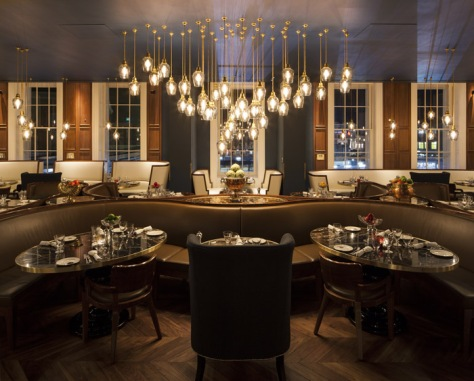 Plum and Spilt Milk, the Great Northern Hotel, London by Archer Humphryes Architects