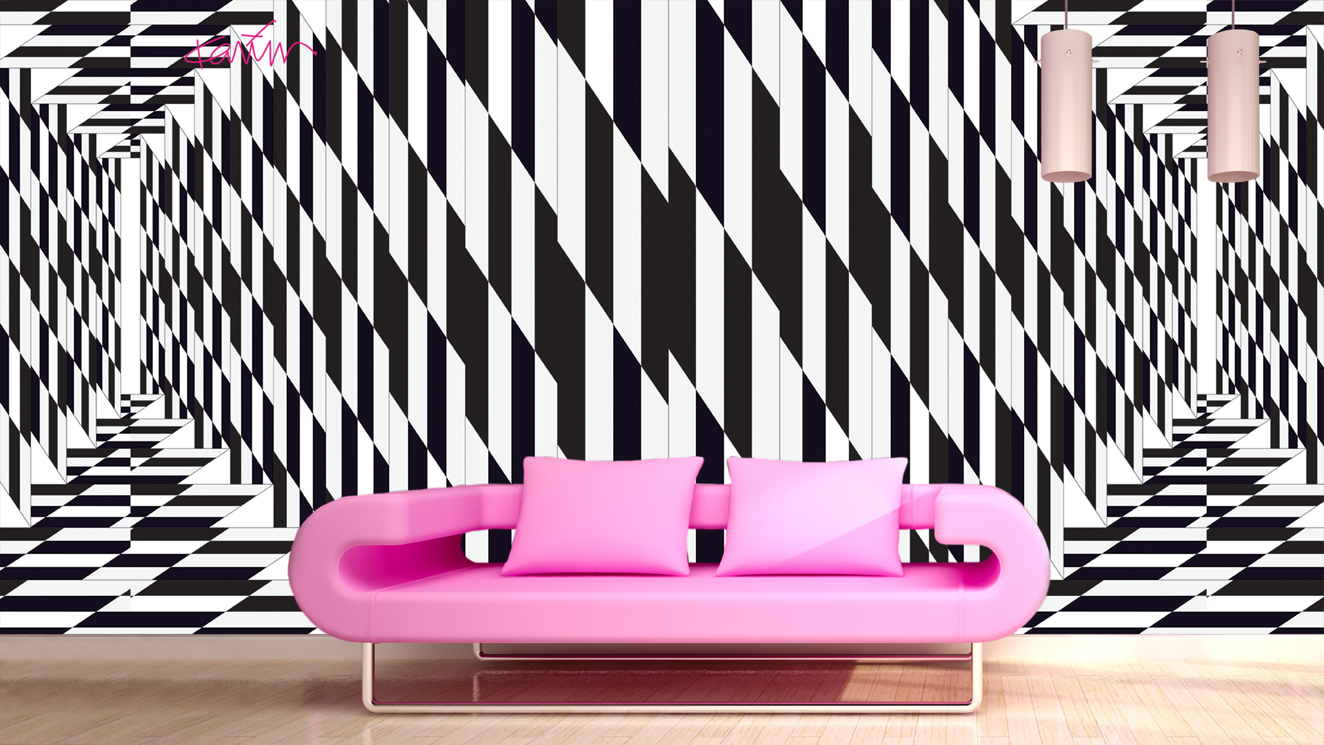 Multiverse By Karim Rashid Is A Collection Of Wallpaper Designed For The Italian Brand Glamora Nine Concepts In Four Color Variants Compose